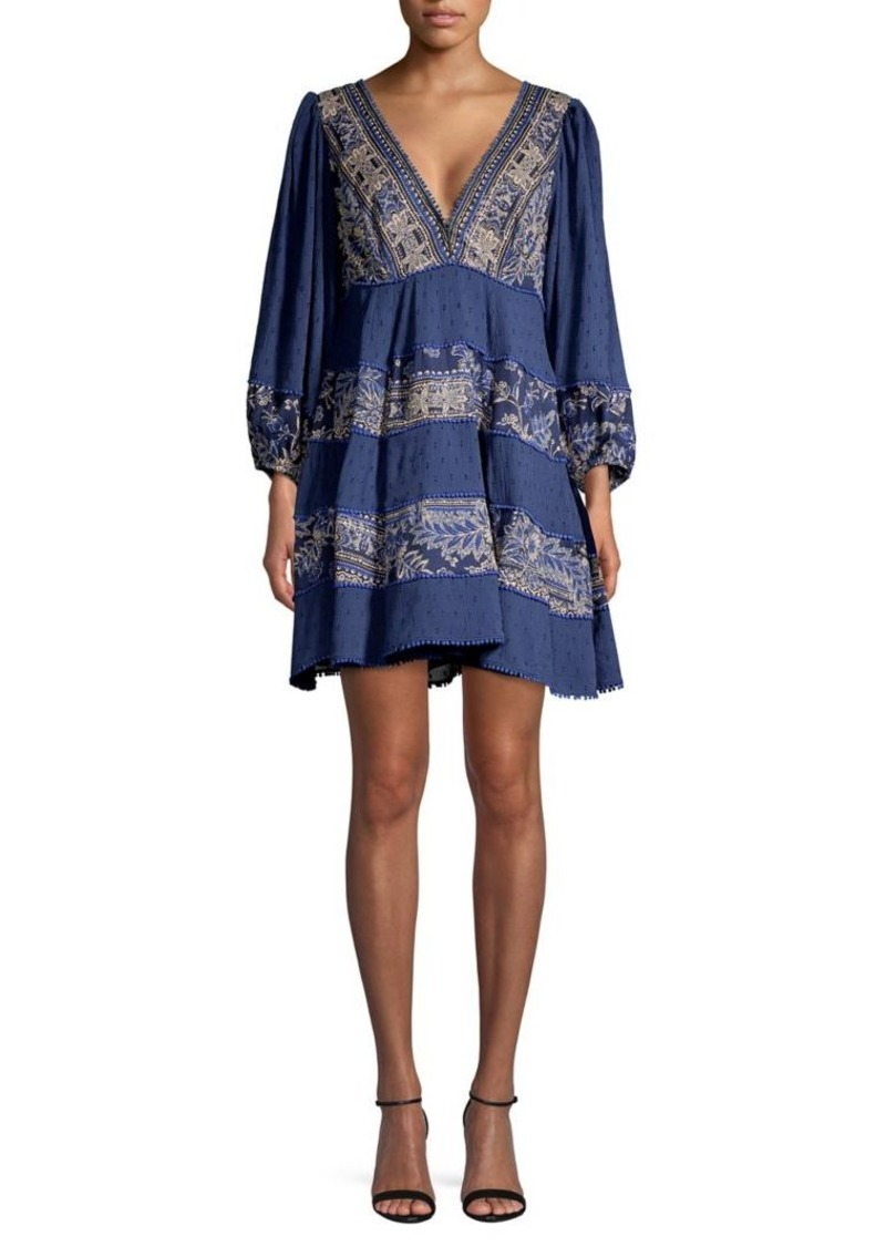 Free People My Love Embroidered Shift Dress
