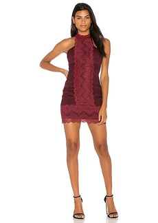 Free People Natasha Lace Bodycon in Burgundy. - size L (also in M,S,XS)