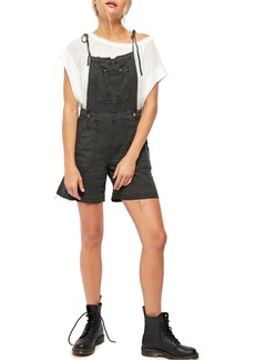 Free People Natural Sights Linen & Cotton Short Overalls