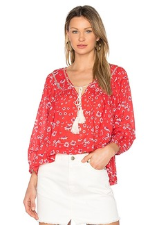 Free People Never a Dull Moment Blouse in Red. - size M (also in S,XS)