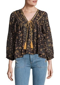 Free People Never a Dull Moment Peasant Blouse