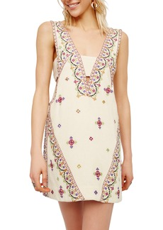 Free People Never Been Embroidered Cotton Dress
