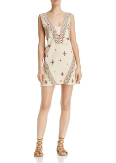 Free People Never Been Embroidered Tie-Back Dress