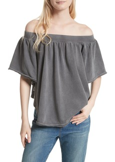 Free People New Kiss Me Off the Shoulder Tee