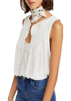 Free People New To Town Smocked Tank
