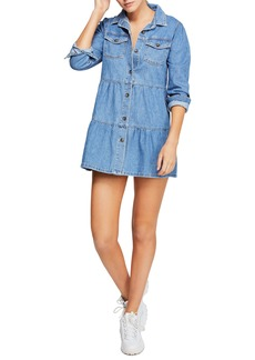 Free People Nicole Long Sleeve Denim Shirtdress