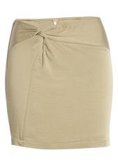 Free People Night Dreamer Twist Mini Skirt