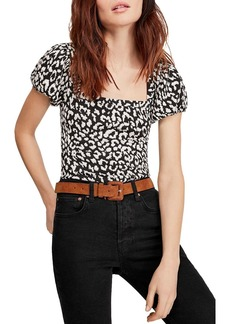 Free People No Type Leopard Print Top