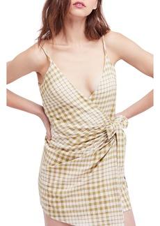Free People Nodia Check Wrap Minidress