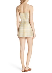Free People Nodia Check Wrap Minidress
