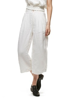 Free People Nomad High Waist Crop Linen Trousers