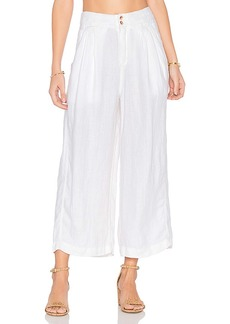 Free People Nomad Linen Trouser in White. - size 0 (also in 2,4,6,8)