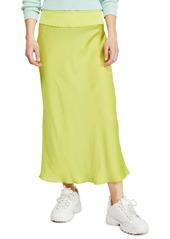 Free People Normani Bias Cut Satin Skirt