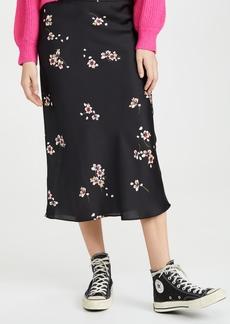Free People Normani Bias Printed Skirt