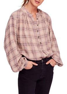 Free People Northern Bound Plaid Shirt