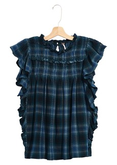 Free People Not Your Average Girl Plaid Top