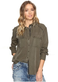 Free People Off Campus Button Down