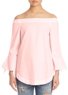 Free People Off-The-Shoulder Bell Sleeves Tunic