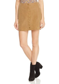 Free People Oh Snap Faux Suede Skirt