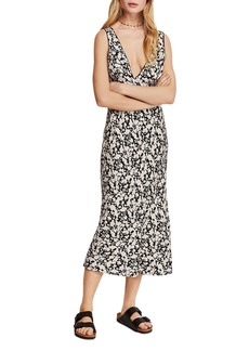 Free People Ohh La La Bias-Cut Midi Dress