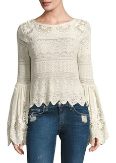 Free People Once Upon A Time Bell-Sleeve Top