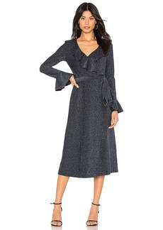 Free People One More Time Lurex Wrap Dress