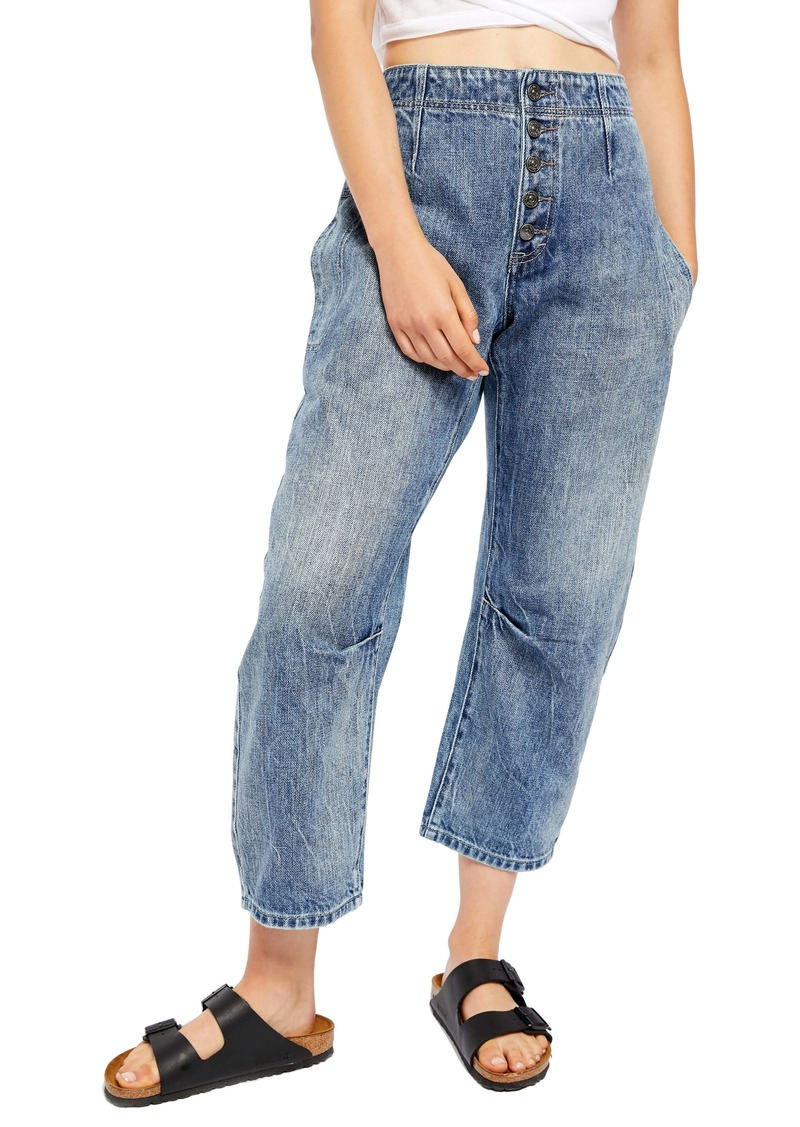 Free People Osaka Relaxed Straight Leg Jeans (Spring Garden)
