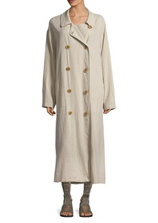 Free People Oversized Crinkle Trench Coat