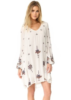 Free People Oxford Embroidered Mini Dress