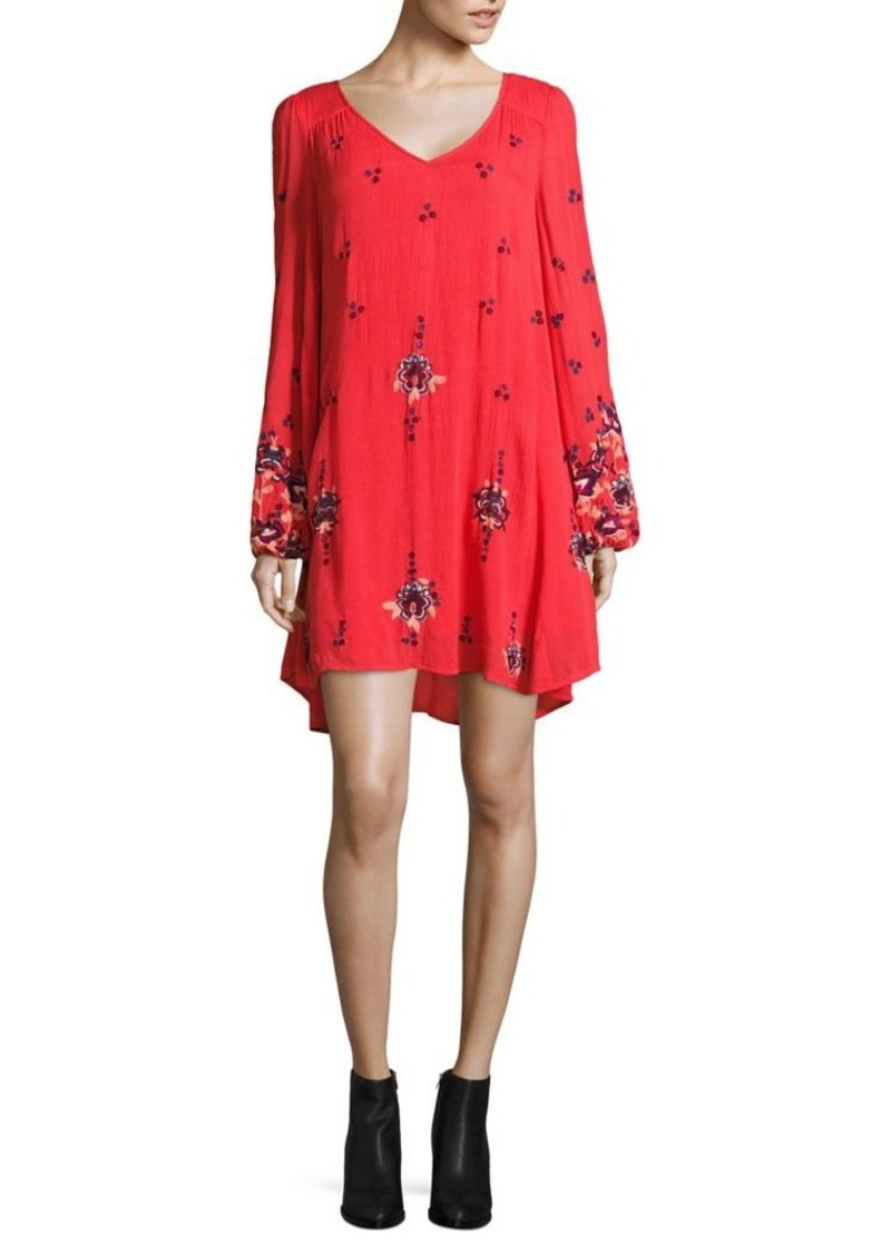4ea57a3396b7 Free People Free People Oxford Embroidered Mini Dress Now $64.00