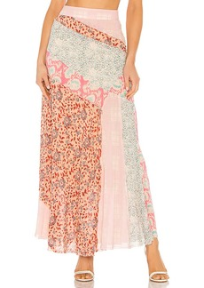 Free People Palma Patchwork Skirt