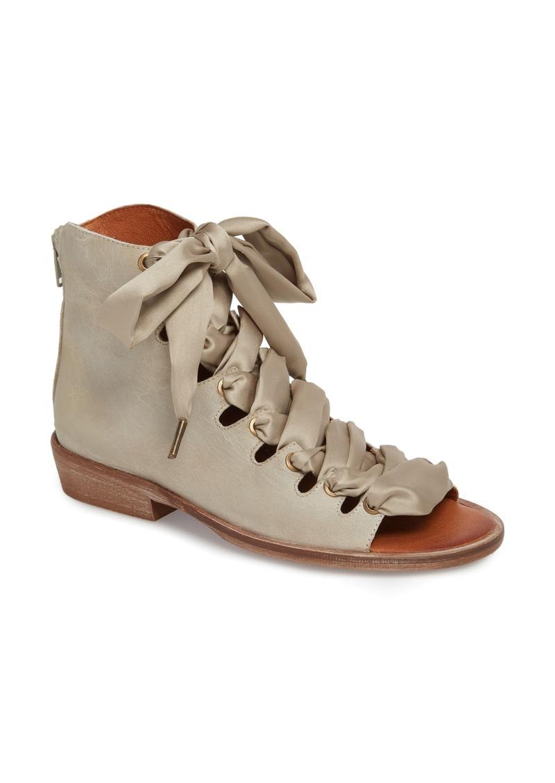 Free People Palms Lace Up Gladiator Block Heel Sandals c7DwQl
