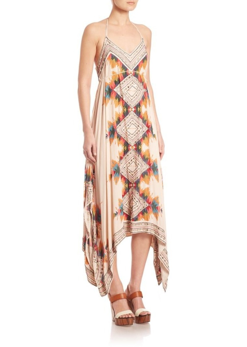 Free People Party Ibiza Embellished Halter Dress