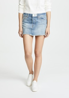 Free People Patched Denim Miniskirt