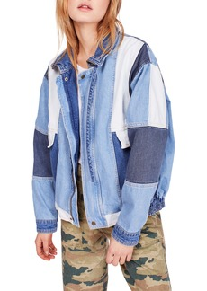 Free People Patchwork Denim Jacket