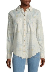 Free People Patterned Cotton Shirt