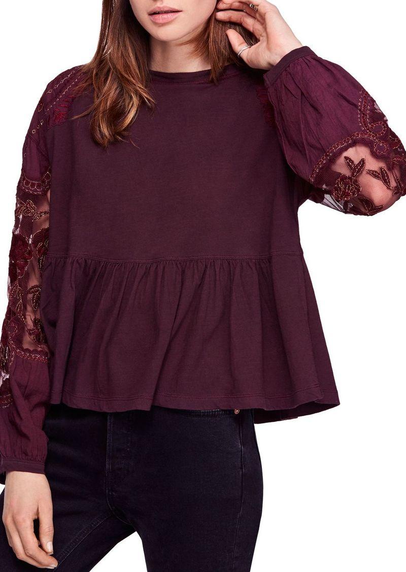 Free People Penny Embellished-Sleeve Top