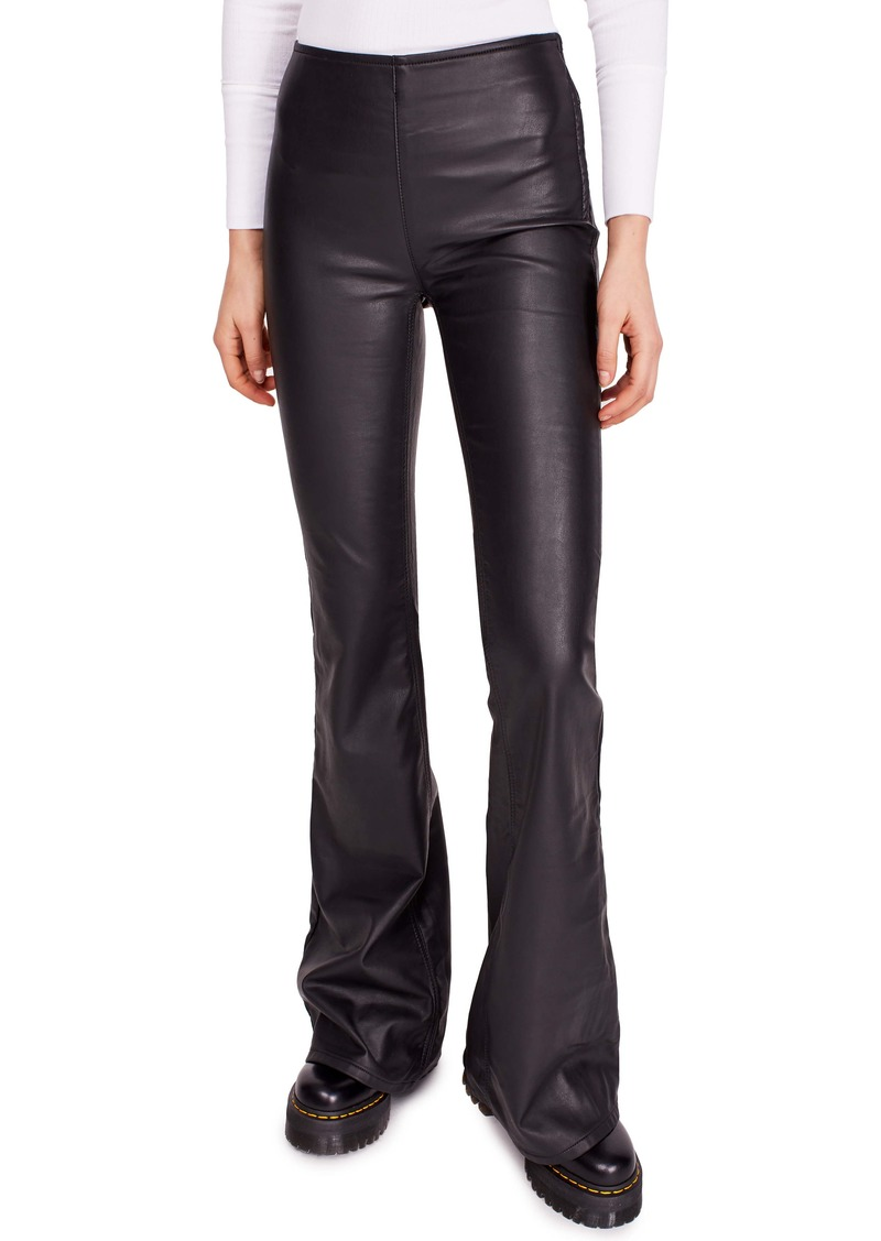 Free People Penny Faux Leather Flare Pants