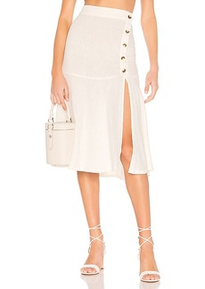 Free People Poppy Flounced Midi Skirt