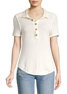 Free People Poppy Polo Tee