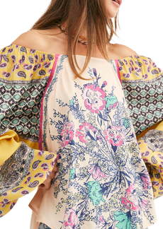 Free People Positano Print Blouse