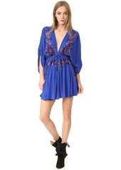 Free People Pretty Pineapple Embroidered Dress