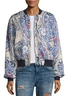 Free People Print Bomber Jacket