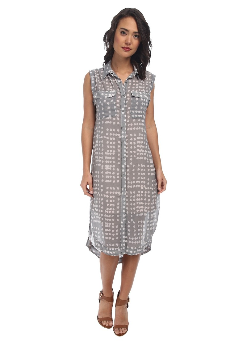 Free People Printed Check Chiffon Mercer Street Maxi