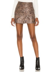 Free People Printed Fake Out Faux Wrap Skirt