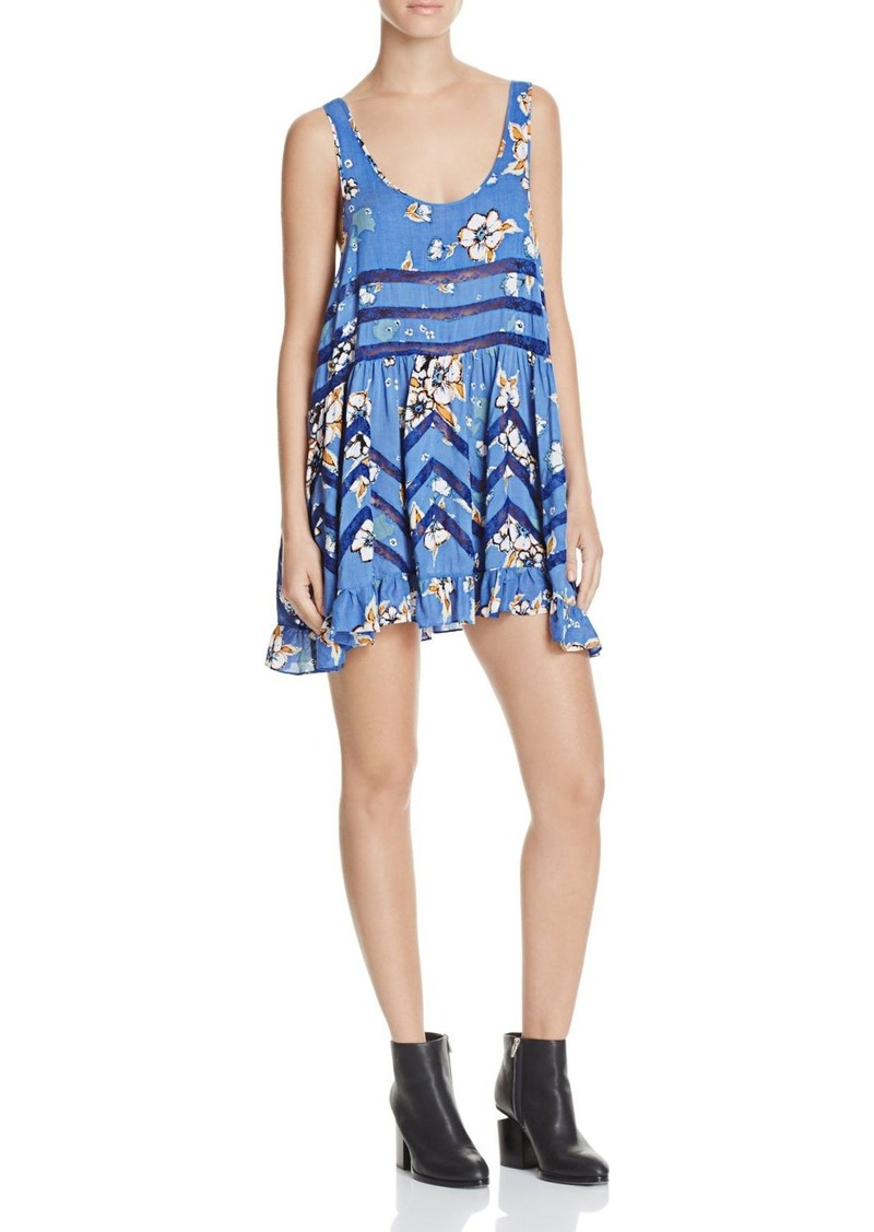 Free People Printed Lace Trapeze Dress