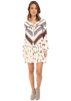 Free People Printed Rayon Gauze From Your Heart Dress