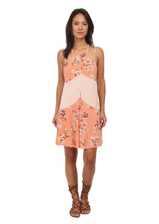 Free People Printed Rayon Voile Crescent Slip