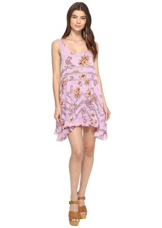 Free People Printed Viscose Voile & Lace Trapeze Slip
