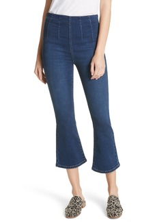 Free People Pull-On Ultra High Waist Crop Bootcut Jeans